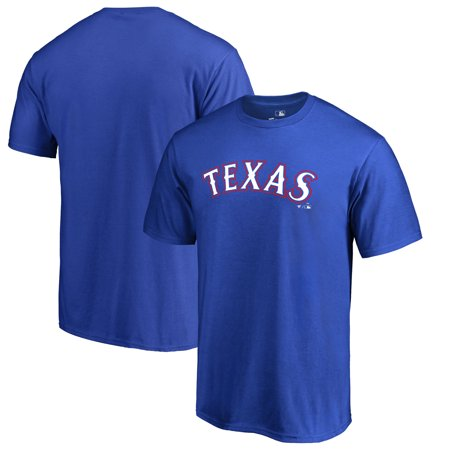 Texas Rangers Fanatics Branded Team Wordmark T-Shirt - Royal - Ranger De Texas
