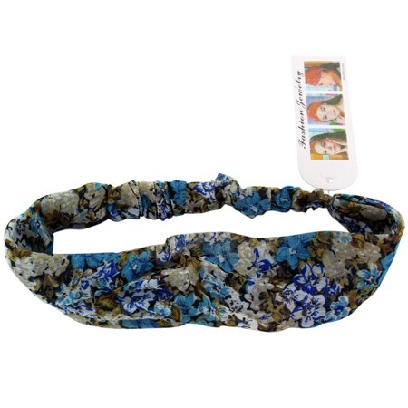 Blue Frilly Flower Boutique  Spring Flowers Headband