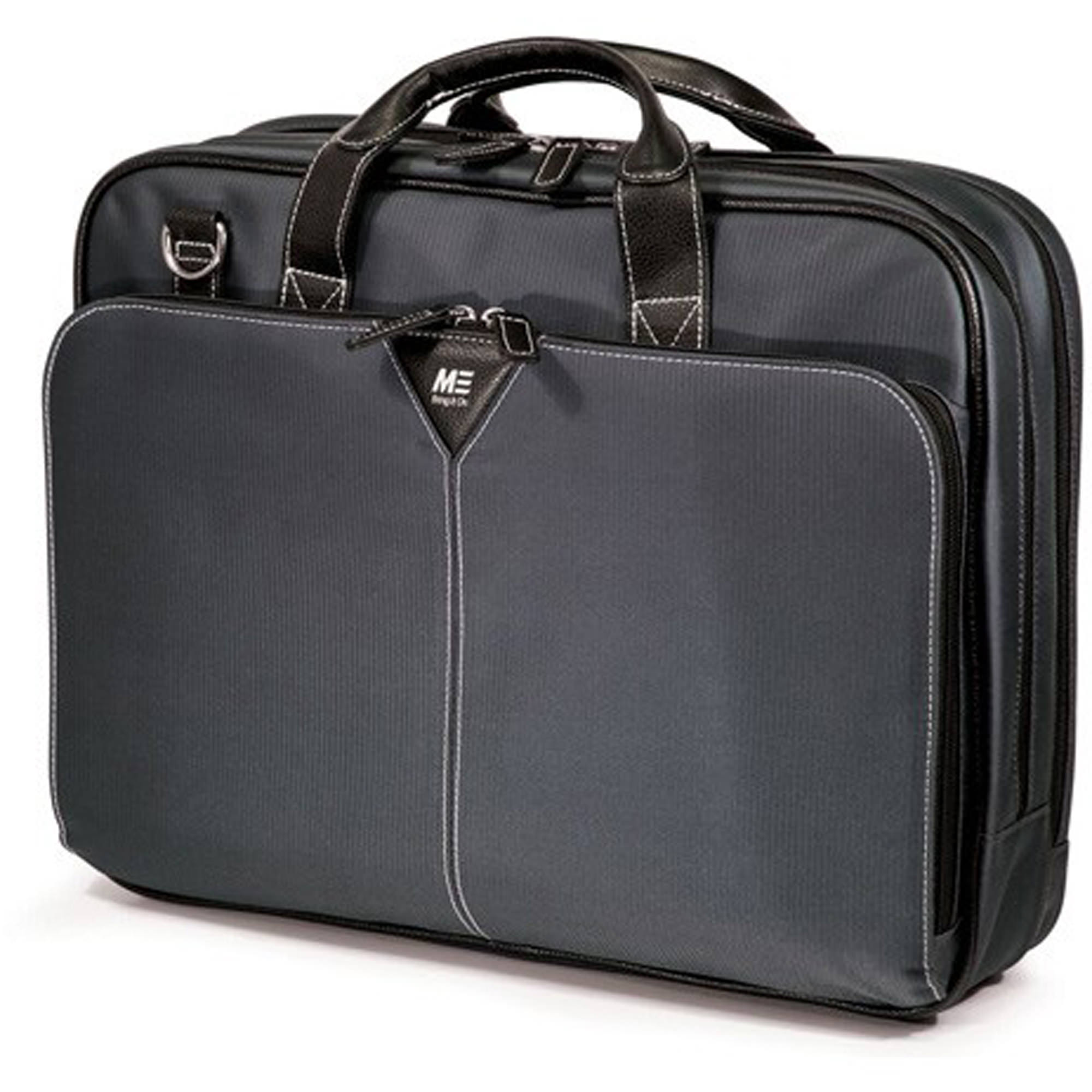 "Mobile Edge MEGBCP Graphite Premium Nylon Laptop 15.6"" Briefcase – Graphite"