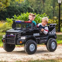 Huffy 12V Battery-Powered SWAT Truck 2-Seater Ride-On Toy