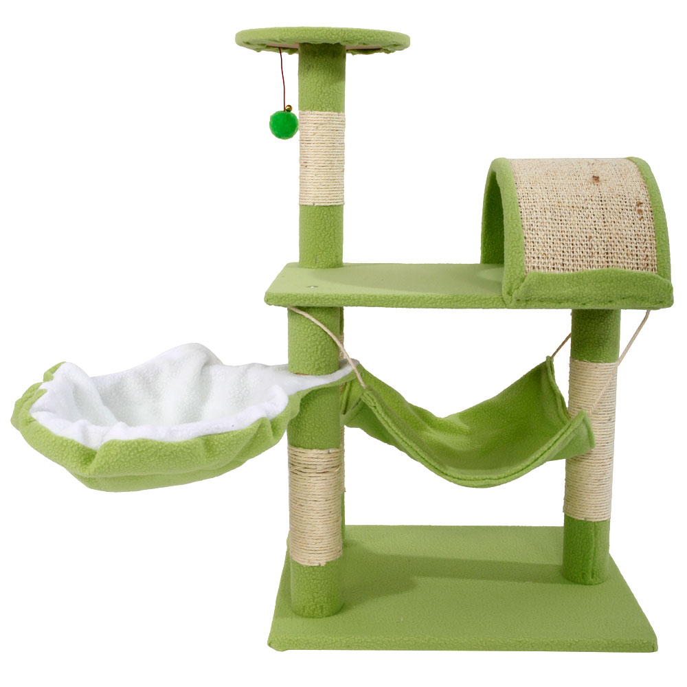 "Ktaxon 32"" Cat Tree Tower Condo Sisal Scratcher Furniture Kitten Pet House Hammock Toy"