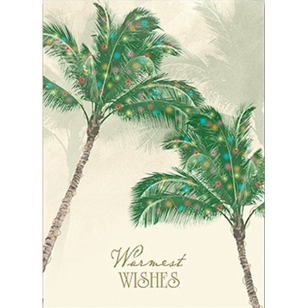 Tropical Palm Trees Warmest Wishes 18 Christmas Holiday Boxed