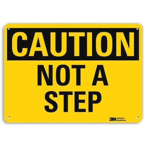 LYLE U4-1562-RA_10X7 Safety Sign,Not A Step,7 in H x 10 in W G1812855