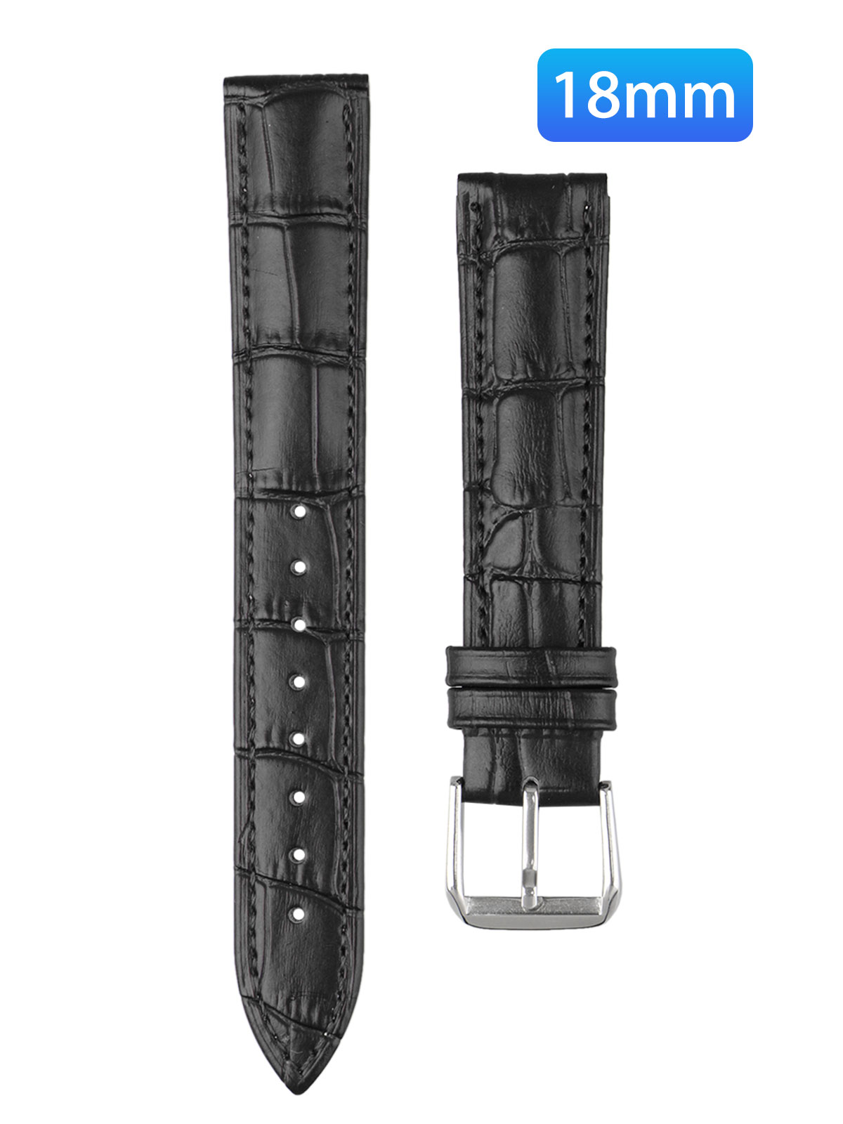 Leather Watch Bands, Quick Release Classic Genuine Leather Replacement Watch Strap Wristband for Men and Women 18mm