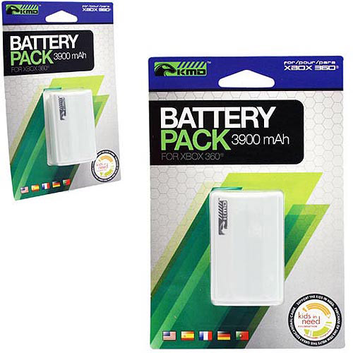 KMD - Stylized Rechargeable Battery Pack for Xbox 360 - White