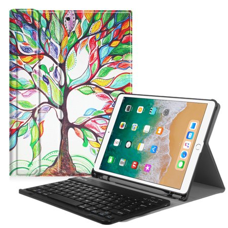(Fintie 10.5-inch iPad Air (3rd Gen) 2019 / iPad Pro 2017 Keyboard Case Cover with Apple Pencil Holder, Love Tree)
