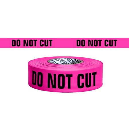 Presco Printed Roll Flagging Tape: 1-3/16 in. x 50 yds. (Neon Pink with Black