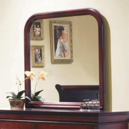 Dark Cherry Finish Mirrors - Coaster Mirror In Cherry Finish 203974