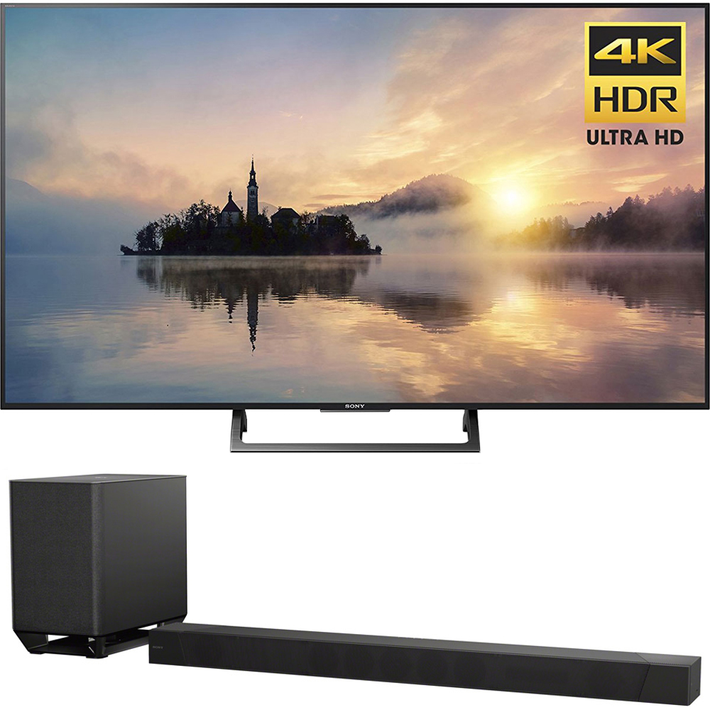 "Sony 55"" Class (54.6"" diag) 4K HDR Ultra HD TV (KD-55X720E) with Sony 7.1.2ch 800W Dolby Atmos Sound Bar"