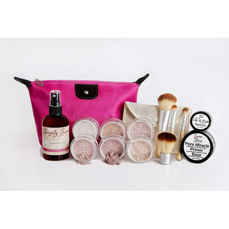 TIMELESS LOOK KIT Full Size Mineral Makeup Set Matte Foundation Bare Face Sheer Powder Cover (FAIR 2)