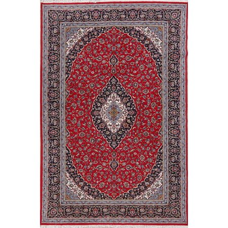 Rugselect Floral Medallion Kashan Acrylic And Wool Blue
