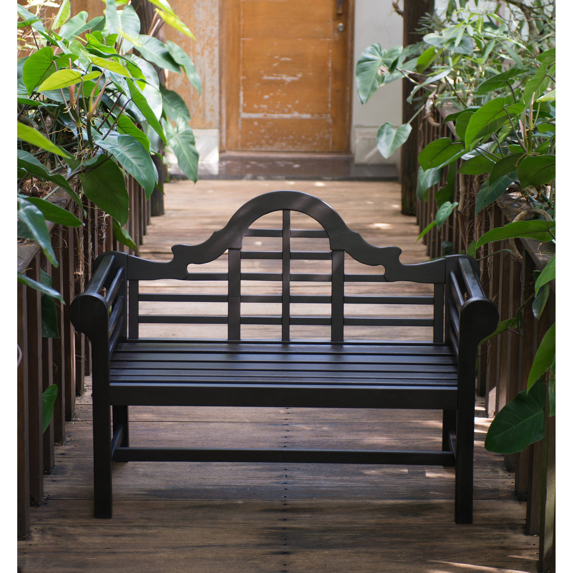 4' Lutyen's Bench, Dark Brown by Outdoor Benches