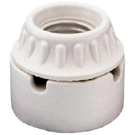 - Pass & Seymour 9882CC10 Incandescent Light Socket, Porcelain, Medium Base