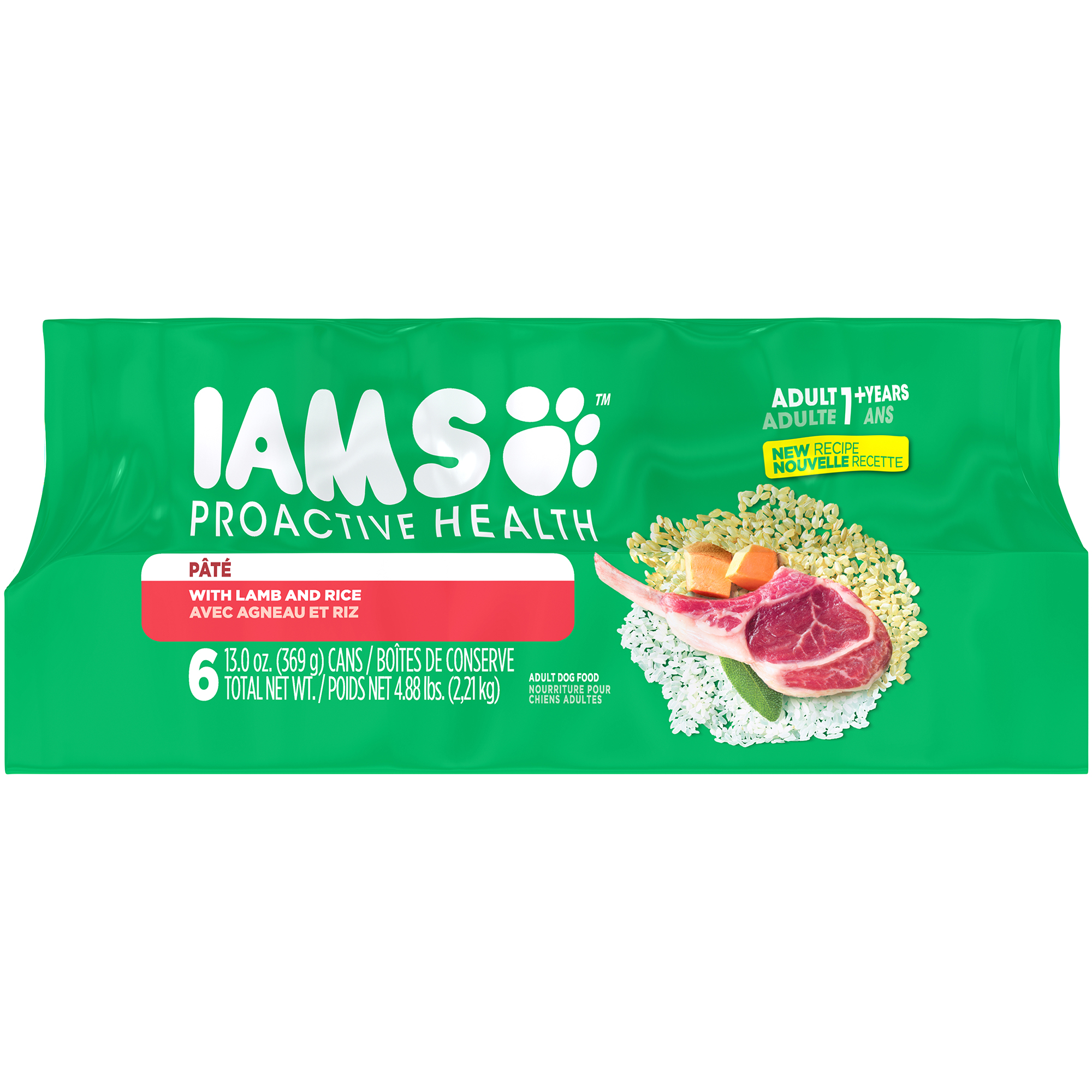 Iams Proactive Health Lamb & Rice Adult Wet Dog Food, 13 Oz, Case Of 6
