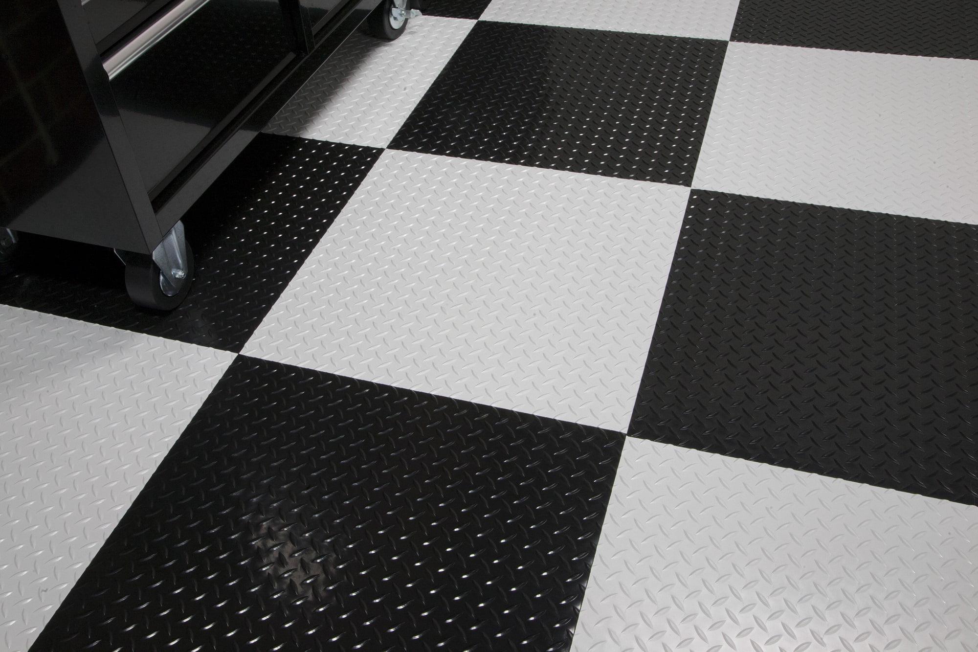 G Floor Raceday Peel And Stick Tile With Psa 95 Mil Diamond Tread 24 X 24 Absolute White 10 Pack Walmart Com Walmart Com