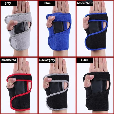Wrist Hand Brace Support Carpal Tunnel Splint Arthritis Sprain Stabilizer Strap Arthritis Gym Right/Left ()