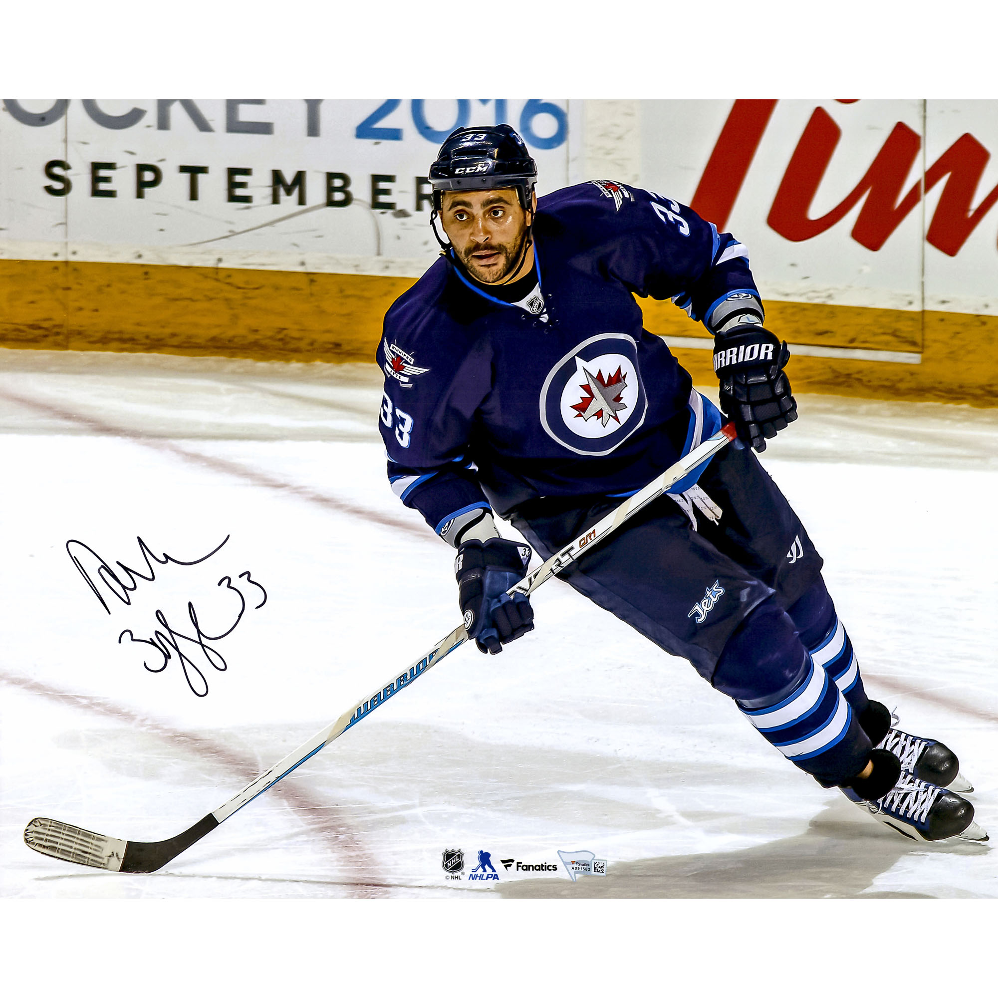 "Dustin Byfuglien Winnipeg Jets Fanatics Authentic Autographed 16"" x 20"" Blue Jersey Skating Photograph No Size by Fanatics Authentic"