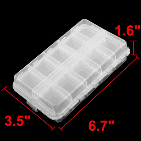 20 Compartments Fishing Hook Storage Box Foldable Fish Bait Lure Case Clear - image 2 of 4