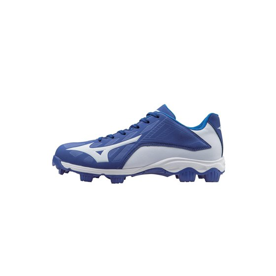 2711609ce Mizuno 9-Spike Advanced Franchise 8 Molded Baseball Cleat Low Royal White9-Spike  Advanced outsole for superior traction and comfort.