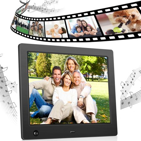 8 inch Electronic Digital Photo Frame IPS 4:3 1024x768 Display with Motion Sensor 1080P 720P Video Player Stereo/MP3/Calendar/Time