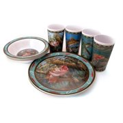 MotorHead Products MHP-WW-0003 Fresh Water Fish 12 Piece Tableware Set