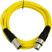 Seismic Audio  Yellow 10' XLR Microphone Cable - Patch Yellow - SAXLX-10Yellow