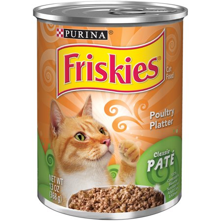 Purina Friskies Classic Pate Poultry Platter Cat Food 13 Oz  Can