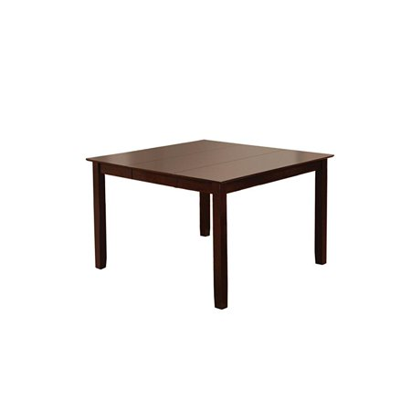 Furniture of America Svelte Counter Height Thle with 18-Inch Expandhle Leaf, Espresso (18 Leaf Dark Cherry)