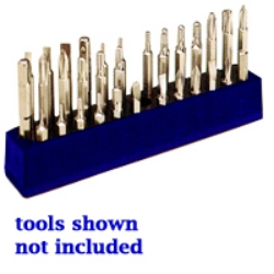 1/4 in. Magnetic Neon Blue 37 Piece Bit Holder
