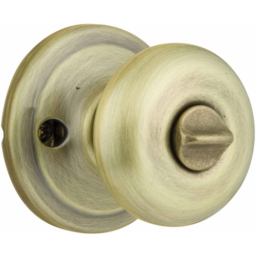 Kwikset Antique Brass Juno Bed and Bath Privacy Knob