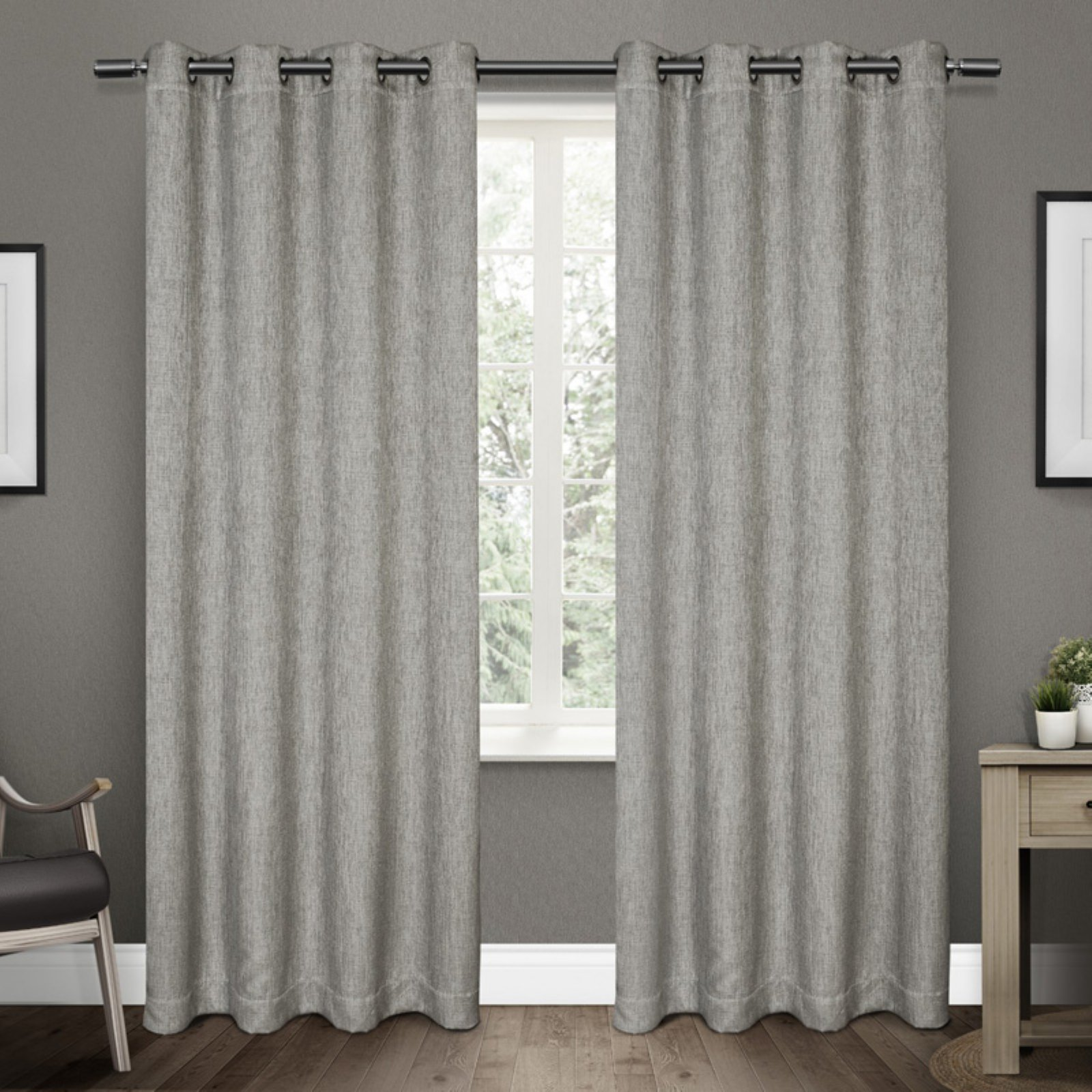 Exclusive Home Curtains 2 Pack Vesta Heavyweight Textured