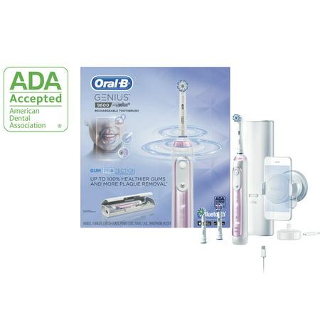 Oral-B 9600 Electric Toothbrush, Sakura Pink, 3 Brush Heads