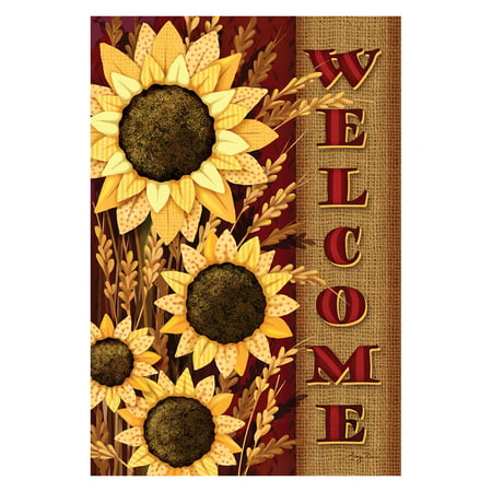- Toland Home Garden Welcome Sunflowers Flag
