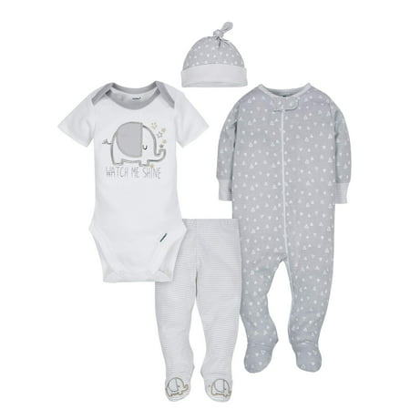 Take Me Home Outfit Set, 4pc (Baby Boy or Baby Girl Unisex) (Girl Boy Girl Boutique)
