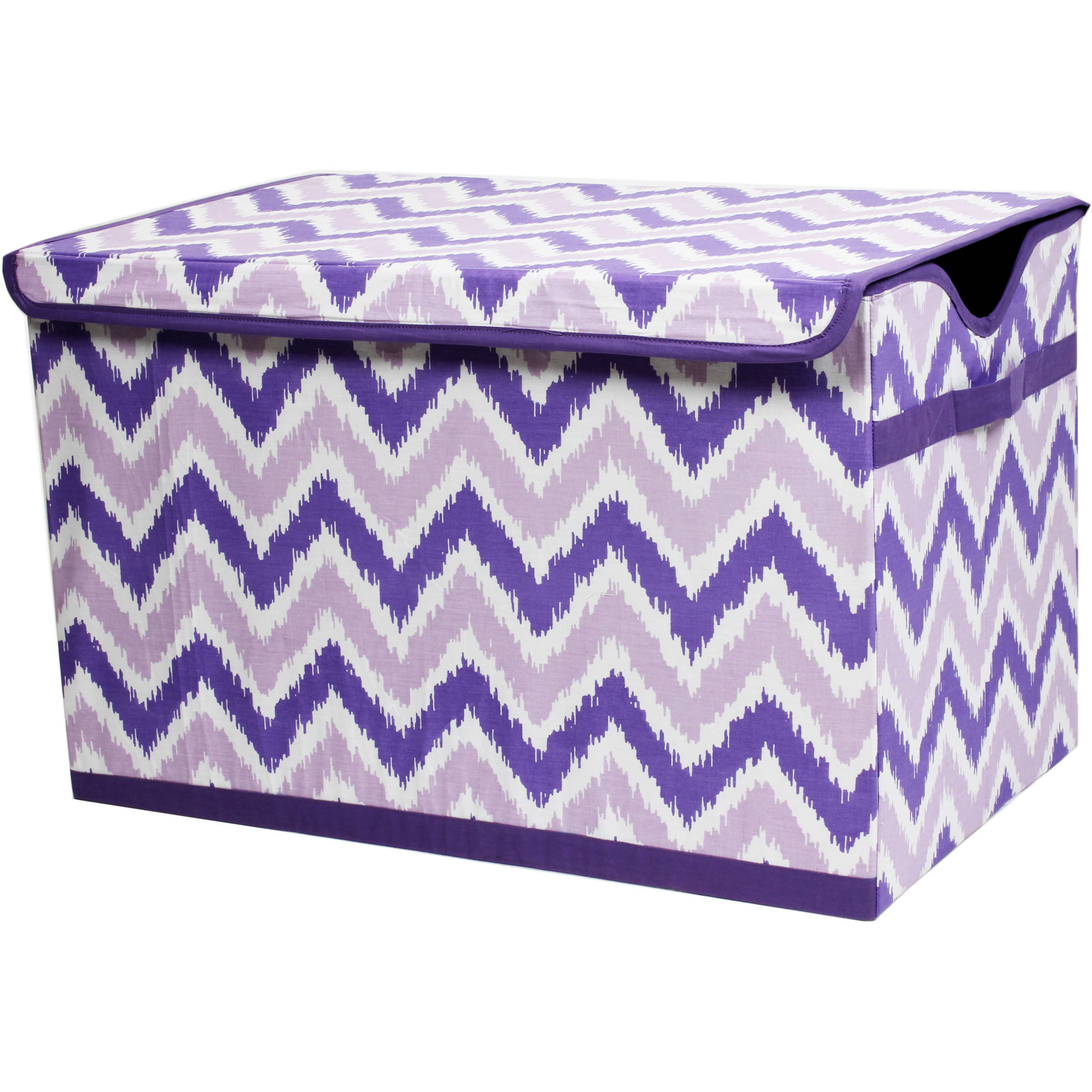 Bacati - MixNMatch Purple Zigzag Storage Toy Chest