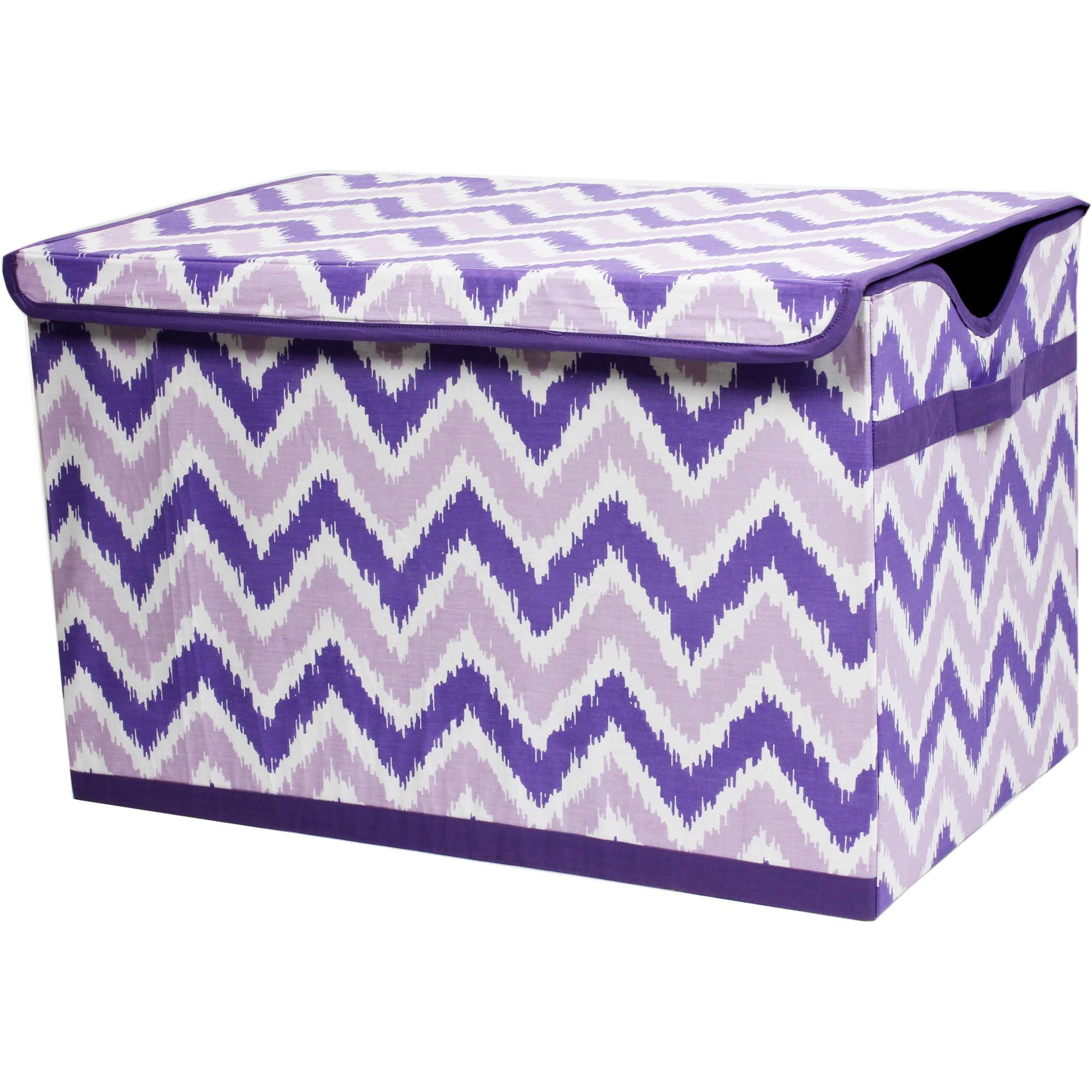 Bacati - MixNMatch Purple Zigzag Storage Toy Chest