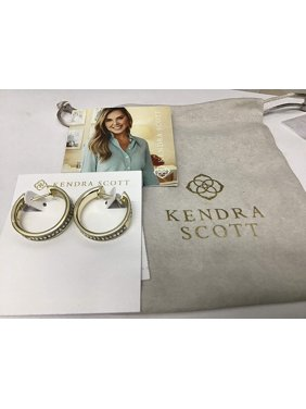 Kendra Scott Jack Hoop Earrings in Gold Clear Crystal