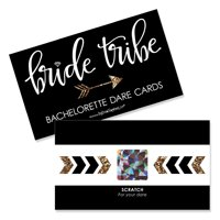Bride Tribe - Bridal Shower & Bachelorette Party Game Scratch Off Dare Cards - 22 Count