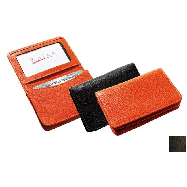 Raika IT 156 BLK Gusseted Card Case - Black