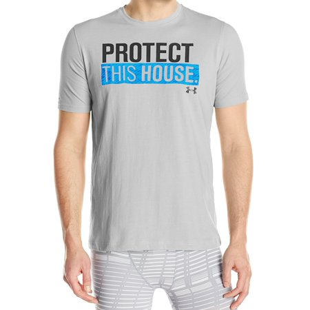 Under armour new gray mens small s protect this house for Under armour shirts at walmart