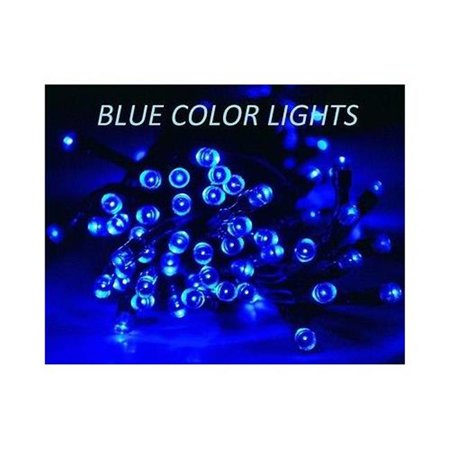 50 Solar Led String Lights Blue : Aleko 50LEDBLUE-APE 50 Led Solar Powered Christmas String Lights, Blue - Walmart.com