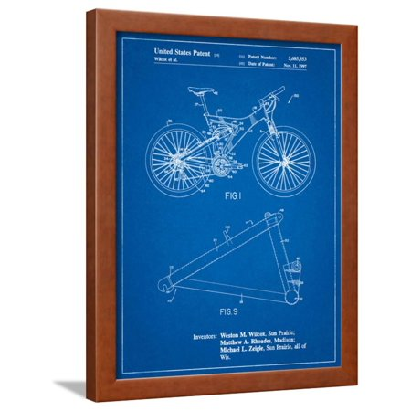 Mountain Bike Patent Art Framed Print Wall Art By Cole