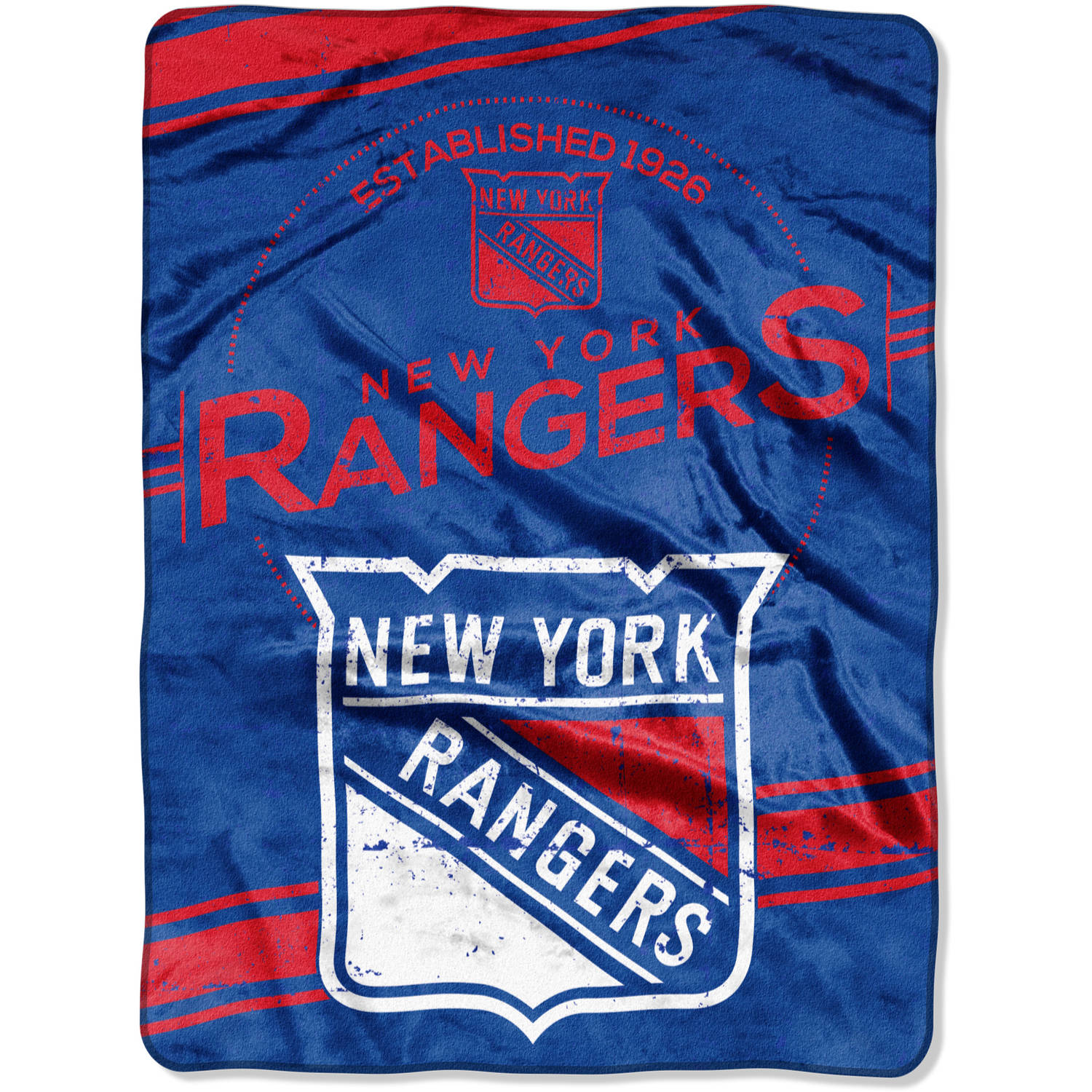 "NHL New York Rangers ""Stamp"" 60"" x 80"" Raschel Throw"
