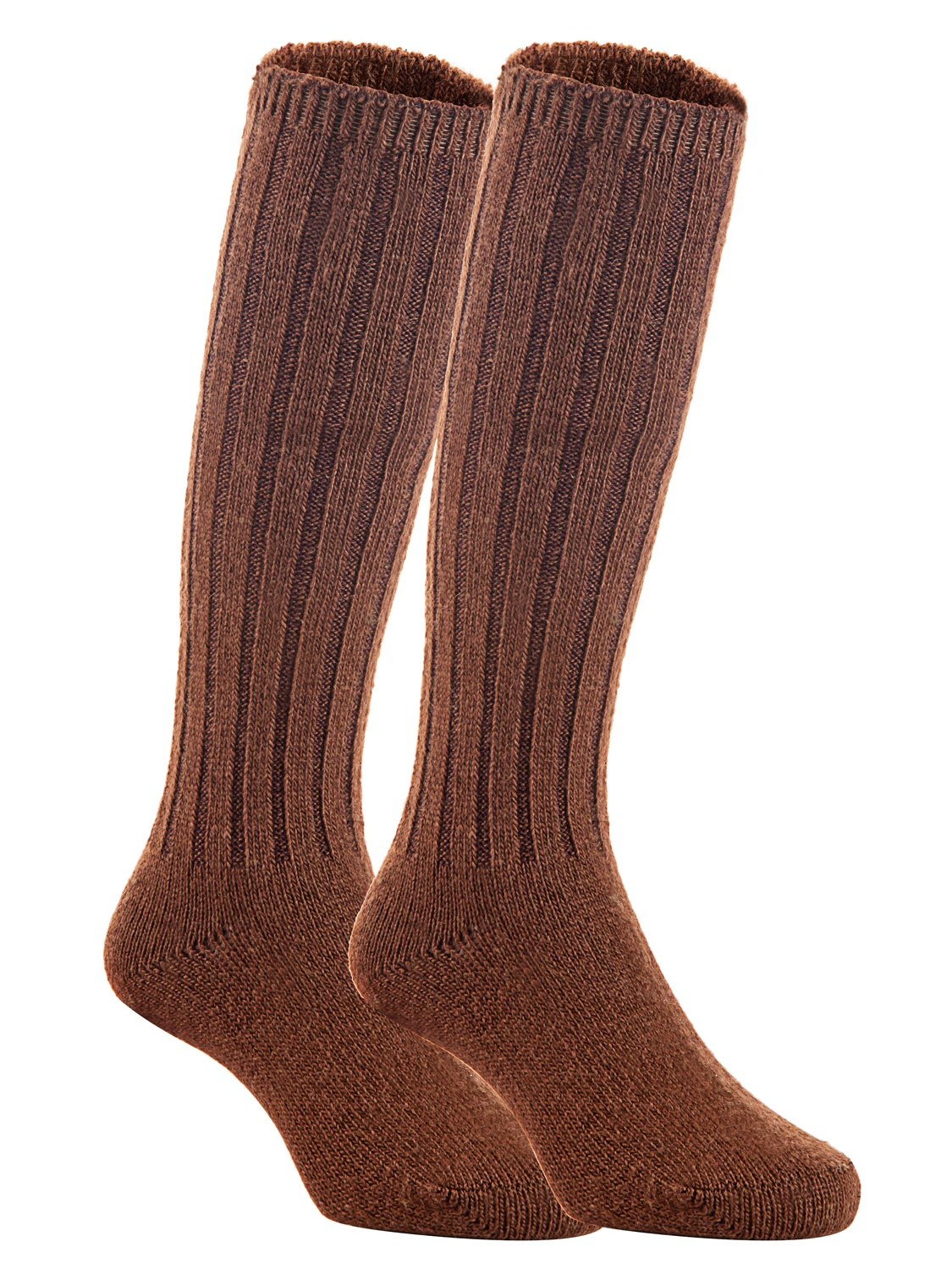 Lian LifeStyle Unisex Baby Children 3 Pairs  Knee High Wool Blend Boot Socks Size 4-6Y  (Coffee)