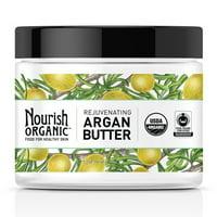 Nourish Organic Rejuvenating Argan Body Butter For Healthy Skin, 5.2 Oz