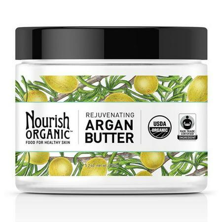 Nourish Organic Rejuvenating Argan Body Butter For Healthy Skin, 5.2