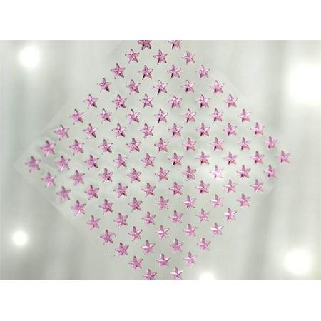 BalsaCircle 600 pcs Star Shaped Gem Stickers - Wedding Party Favors Decorations DIY Craft Supplies - Pink Scrapbook Paper