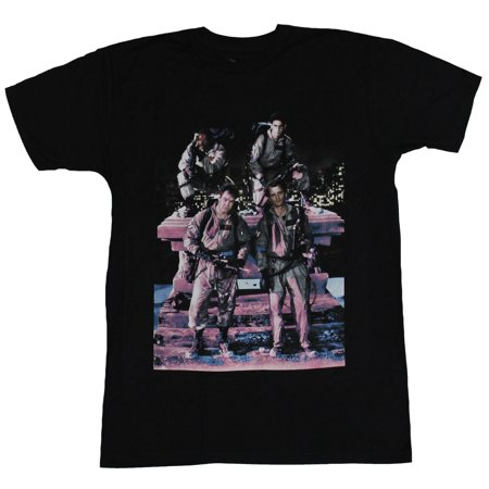 Ghostbusters Mens T-Shirt - Pink Tinted Rooftop Group Photo Image](Group Photo Clothing Ideas)
