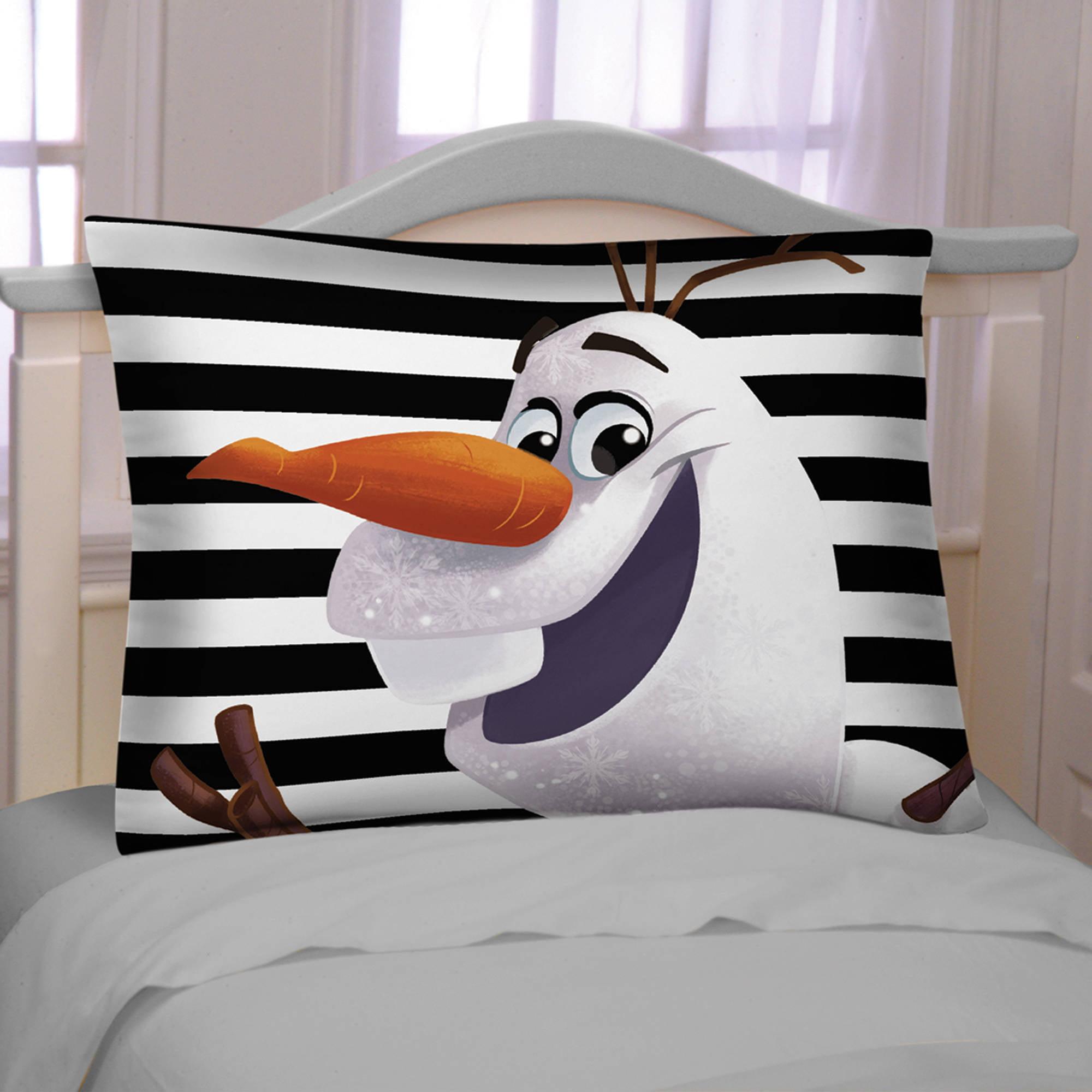 Disney's Frozen Olaf Plaid Reversible Pillowcase