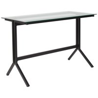 Lancaster Home  Metal and Glass Modern Computer Desk